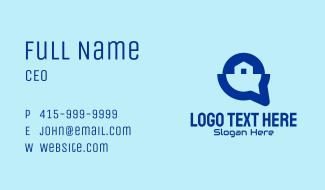 Blue House Listing App Business Card