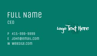 White Graffiti Wordmark  Business Card