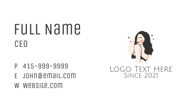 Sexy Underwear Model  Business Card
