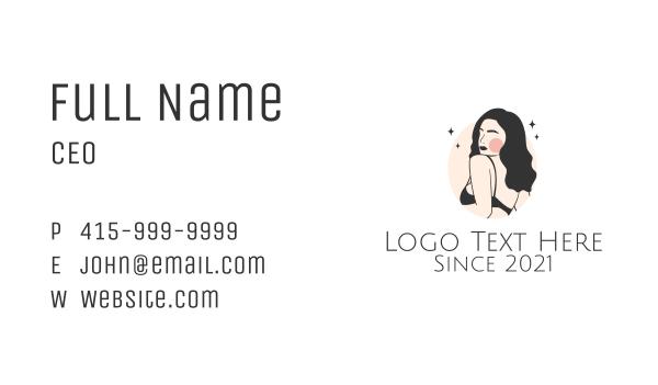 maiden - Sexy Underwear Model  Business card horizontal design