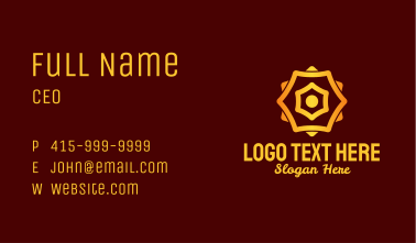 Chinese New Year Decor Business Card