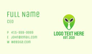 Green Alien Tie  Business Card