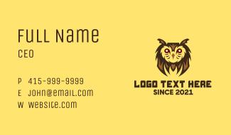 Owl Bird Gaming Character Business Card