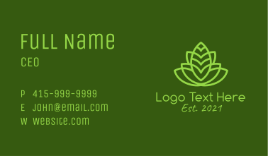 Symmetrical Organic Plant Business Card