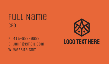 Simple Geometric Insect Business Card