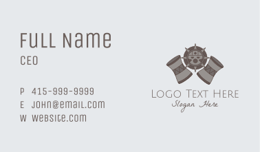Ancient Tribe Drum  Business Card