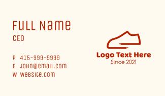 Minimalist Shoelace Sneakers Business Card