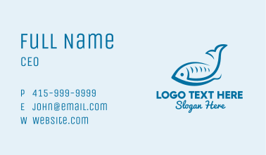 Simple Seafood Fish Business Card
