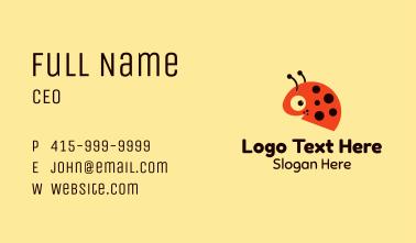 Flying Ladybug Business Card