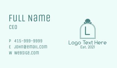 Ocean Shell Letter Business Card
