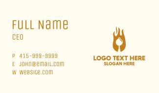 Flame Pan Restaurant Business Card