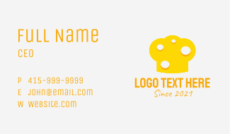 Cheese Chef Hat  Business Card