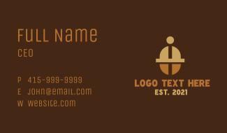 Coffee Bean Barista Business Card