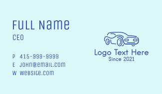 Blue Convertible Car Business Card
