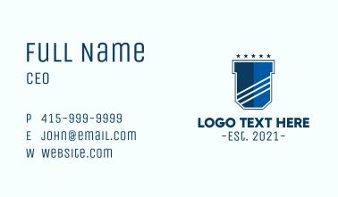 Blue Shield Crest Business Card