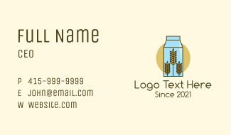 Wheat Milk Product Business Card