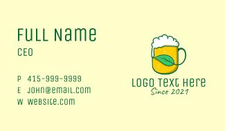 Natural Draft Beer  Business Card