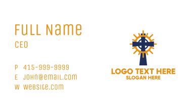 Blue Christian Cross  Business Card