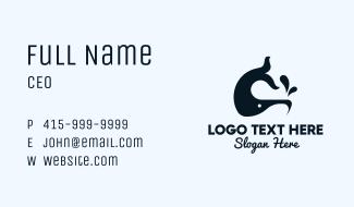 Sperm Whale Mascot Business Card