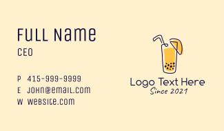 Fresh Juice Drink  Business Card