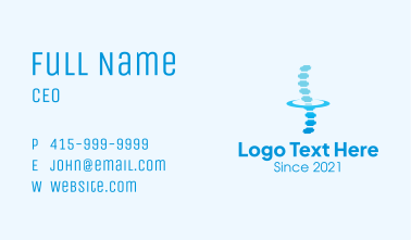 Chiropractic Spinal Cord Business Card