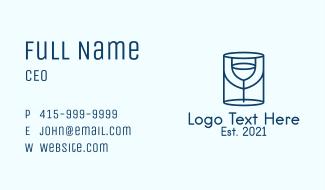 Minimalist Wine Glass  Business Card