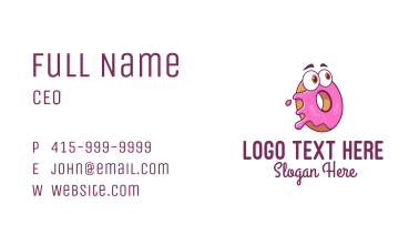 Doughnut Pastry Mascot Business Card
