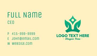 Yoga Leaf Crown Business Card