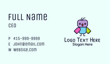 Baby Owl Toy Business Card