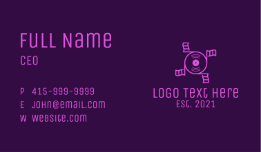 Music Flag Disc Business Card