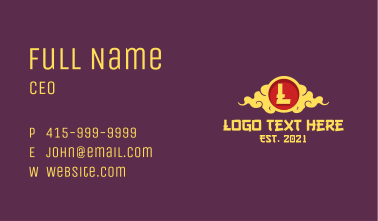 Chinese Clouds Letter Business Card