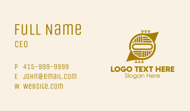 French Horn Instrument  Business Card
