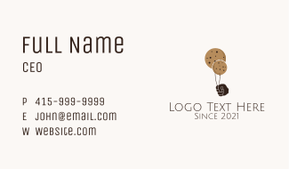 Balloon Cookie Snack Business Card