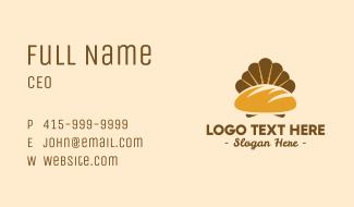 Golden Bread Shell Business Card