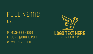 Handyman Wing Wrench Business Card