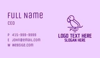 Minimalist Purple Bird Business Card