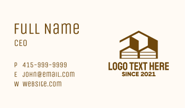 House Storage Facility  Business Card