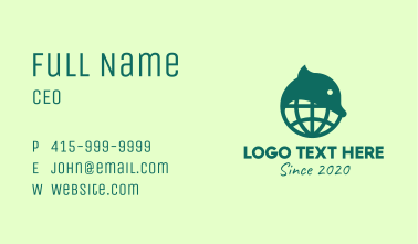 Green Global Wildlife Conservation Business Card