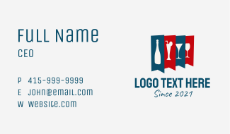 Alcoholic Drink Banner  Business Card