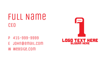 Minimalist Chat Number 1 Business Card