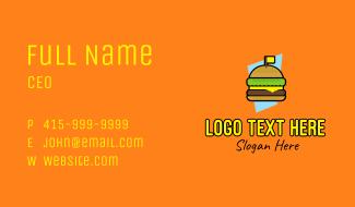 Retro Cheese Burger Business Card