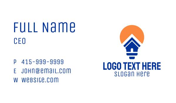 lighting - Bulb House Business card horizontal design