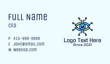 Tech Circuit Eye Business Card