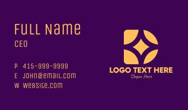 Golden Star Letter D Business Card