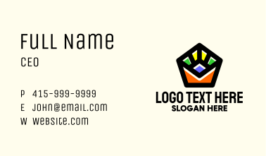 Abstract Multimedia Cinema Business Card