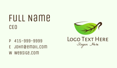 Organic Herbal Cup Business Card