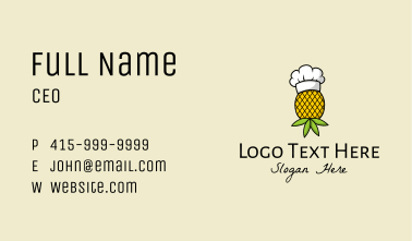 Pineapple Chef Toque  Business Card