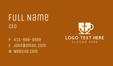 Anchor Mug Cafe Business Card
