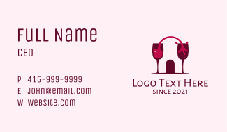 Liquid Wine Cellar Business Card