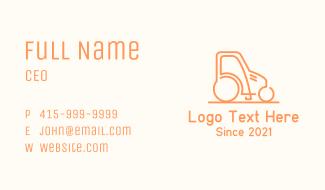 Orange Rice Tractor Business Card